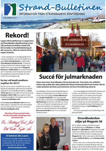 Strand-Bulletinen 4-2013 sid 1 hemsida