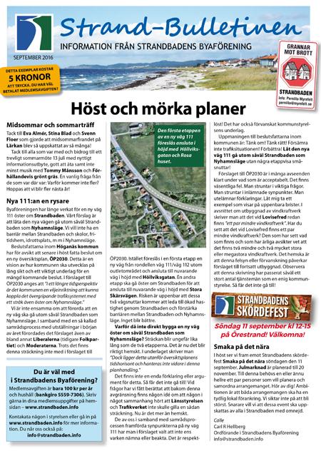 Strand-Bulletinen HEMSIDA