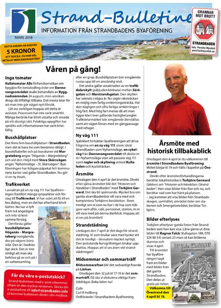 Strand-Bulletinen 1-2018 SID 1