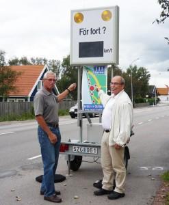 Ordförande Karl Axel Barkentin tillsammans med Ulf Molin (C)
